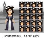 english traditional girl... | Shutterstock .eps vector #657841891