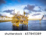 industrial offshore oil and gas ... | Shutterstock . vector #657845389