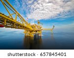 industrial offshore oil and gas ... | Shutterstock . vector #657845401