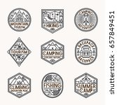 camping logo set line style... | Shutterstock .eps vector #657849451