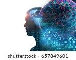double exposure image of... | Shutterstock . vector #657849601