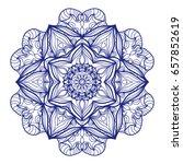 ethnic mandala. mehndi style...   Shutterstock .eps vector #657852619