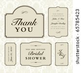 vector wedding frame set | Shutterstock .eps vector #65785423