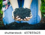 holding soil and sprout... | Shutterstock . vector #657855625