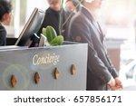 concierge service desk counter...   Shutterstock . vector #657856171