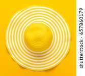 top view of yellow striped... | Shutterstock . vector #657860179