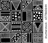 seamless pattern. black and... | Shutterstock . vector #657860644