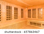 wooden interior of infrared... | Shutterstock . vector #657863467