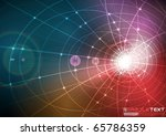 glow from constructive tunnel | Shutterstock .eps vector #65786359