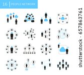 people network icons | Shutterstock .eps vector #657863761