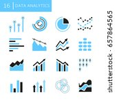 data analytcis  graph and chart ... | Shutterstock .eps vector #657864565