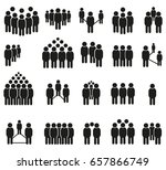 group of people icons | Shutterstock .eps vector #657866749
