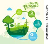 environment. let's save the... | Shutterstock .eps vector #657870391