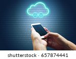 cloud computing connectivity... | Shutterstock . vector #657874441