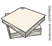 cartoon napkin vector... | Shutterstock .eps vector #657879841