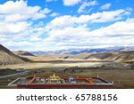 Landscape of western sichuan plateau in China - stock photo