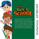 back to school blank template... | Shutterstock .eps vector #657881569