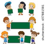back to school blank template... | Shutterstock .eps vector #657881581