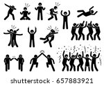celebration poses and gestures. ... | Shutterstock . vector #657883921