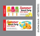 summer beach party invitation... | Shutterstock .eps vector #657885031