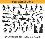 summer  outdoor sports...   Shutterstock .eps vector #657887125