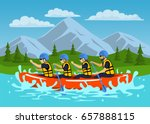 team   group of people  man and ... | Shutterstock .eps vector #657888115