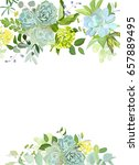green mix of hydrangea ... | Shutterstock .eps vector #657889495