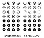 set of arrows in rounded icon | Shutterstock .eps vector #657889699