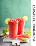 watermelon slushie with lime ... | Shutterstock . vector #657892975