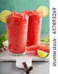 watermelon slushie with lime ... | Shutterstock . vector #657893269