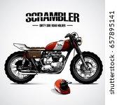 vintage motorcycle poster | Shutterstock .eps vector #657895141