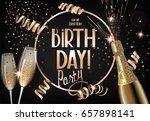 birthday party invitation card... | Shutterstock .eps vector #657898141