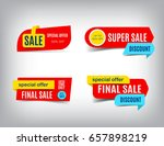 sale banner collection ... | Shutterstock .eps vector #657898219