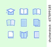 library and education icons... | Shutterstock .eps vector #657899185