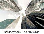 skyscrapers shot with... | Shutterstock . vector #657899335
