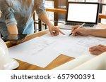 close up of engineer hands... | Shutterstock . vector #657900391