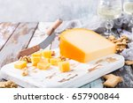 delicious dutch gouda cheese... | Shutterstock . vector #657900844