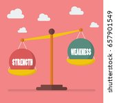 strength and weakness balance... | Shutterstock .eps vector #657901549