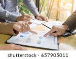 team work process. young... | Shutterstock . vector #657905011