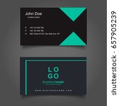 black and green business card... | Shutterstock .eps vector #657905239