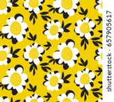seamless doodle floral pattern. ... | Shutterstock .eps vector #657905617