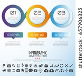 infographics design template... | Shutterstock .eps vector #657906325