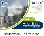 blue and green flyer cover... | Shutterstock .eps vector #657907765