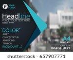 blue flyer cover business... | Shutterstock .eps vector #657907771