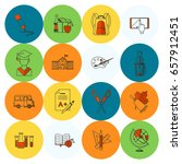school and education icon set.... | Shutterstock .eps vector #657912451