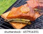 Cedar Plank Salmon With Lemon...