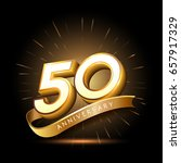 50 years golden anniversary... | Shutterstock .eps vector #657917329