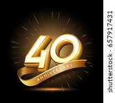 40 years golden anniversary... | Shutterstock .eps vector #657917431