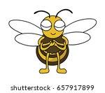 honeybee is impressed. said... | Shutterstock .eps vector #657917899
