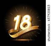 18 years golden anniversary... | Shutterstock .eps vector #657920815